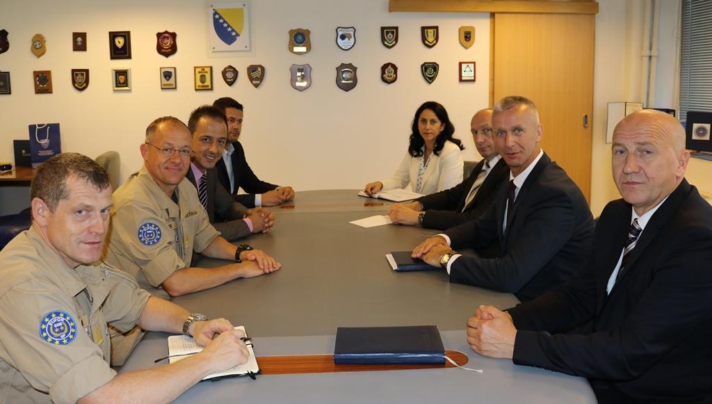 Komandant EUFOR-a u BiH u nastupnoj posjeti Direkciji